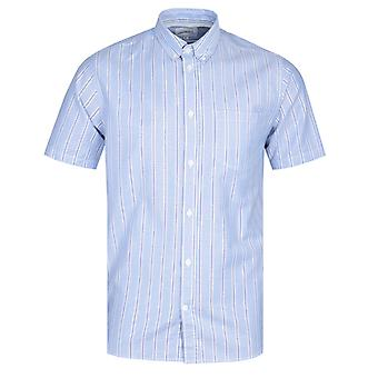 Norse Projects Theo Blue Stripe Short Sleeve Shirt