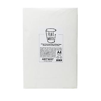 Artway Flat White - 100% Recycled Cartridge Paper (50% Mix of Coffee Cup Waste) - 170gsm - A1, A2, A3 and A4
