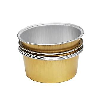 Gold Round Shape Aluminum Hair Removal Melting Wax Bowl For Hot Film Hard Waxing Pellet
