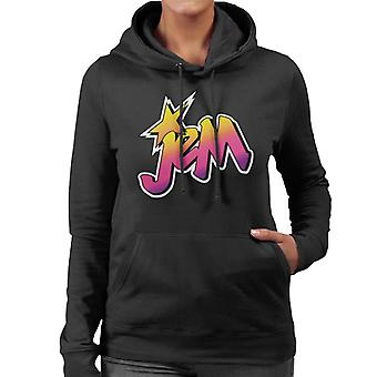 Jem And The Holograms Classic Faded Logo Women's Hooded Sweatshirt
