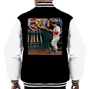The Saturday Evening Post 1951 Baseball Cover Art Men's Varsity Jacket
