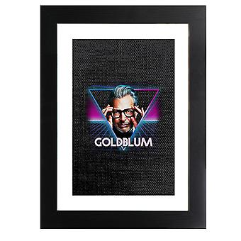 Jeff Goldblum Retro 80s Neon Landscape Framed Print