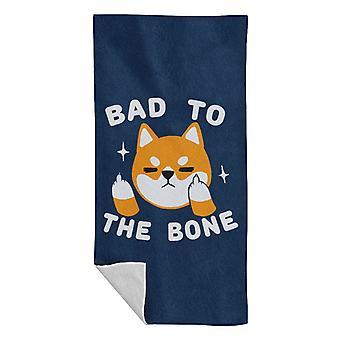 Bad To The Bone Dog Beach Towel