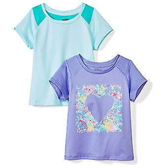 Brand - Spotted Zebra Toddler Girls' 2-Pack Active Short-Sleeve T-Shir...