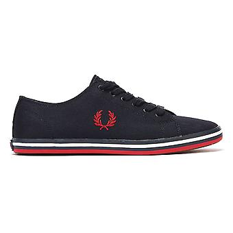 Fred Perry Kingston Twill Mens Navy / Red Trainers