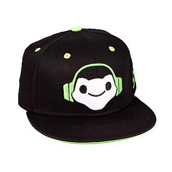 Overwatch Baseball Cap Lucio Logo novo Snapback Oficial Gamer Black