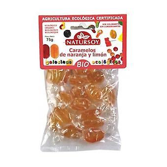 Organic orange and lemon candies 75 g