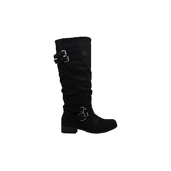 Xoxo Womens Mayson Almond Toe Knie High Fashion Boots