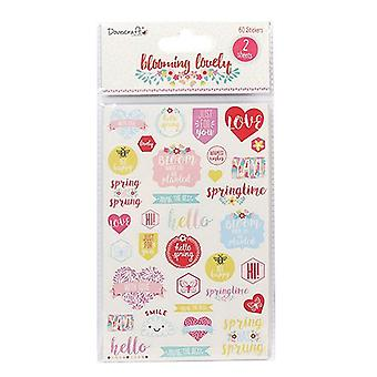 Dovecraft Dovecraft Blooming Lovely Sentiment Stickers