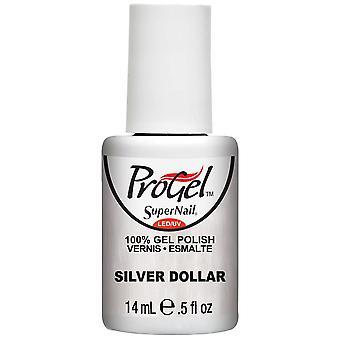 SuperNail ProGel Gel Nail Polish - Silver Dollar 14ml