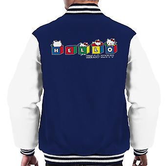 Hallo Kitty bunte Würfel Peekaboo Men's Varsity Jacke