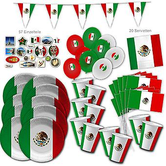 Mexico Party Set XL 117-piece for 10 guests party Mexico party Mexico birthday decoration party package