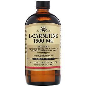 Solgar, L-Carnitine, Natural Lemon, 1,500 mg, 16 fl oz (473 ml)