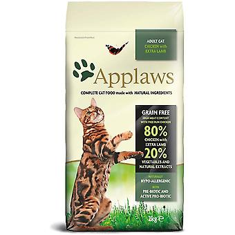 Applaws Dry Adult Cat - Kip en lam - 2kg