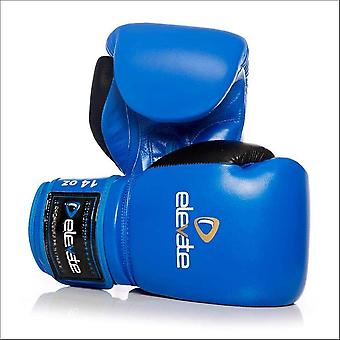 Elevate 2 tone leather boxing gloves - blue & black
