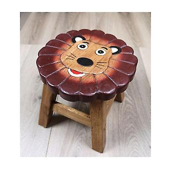Kids Wooden Stool Lion