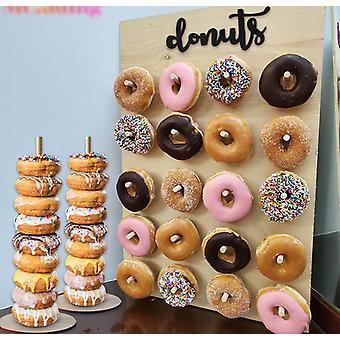 Wooden Donut Wall Stand Doughnut Holder