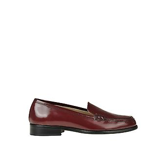 Semi-couture Ezgl426023 Women's Burgundy Leather Loafers