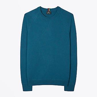 PS Paul Smith - Merino Raglan Sleeve Sweater - Benzine Blauw