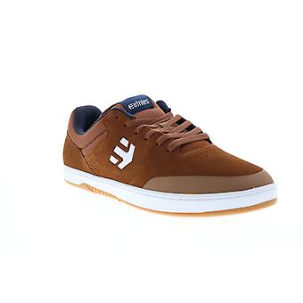 Etnies Marana Mens Brown Suede Lace Up Skate Sneakers Shoes