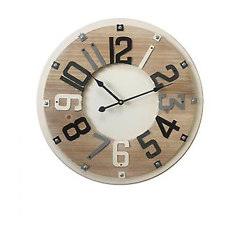 Rebecca Møbler Watch Runde Møbler Beige Wood Industrial 50x50x4.5