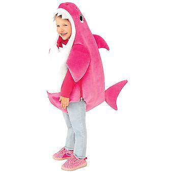 Mama Hai Deluxe rosa Baby Hai Pinkfong Kind Mädchen Kostüm mit Sound S