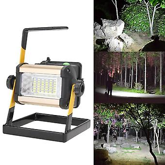 Rechargeable Floodlight Portable Led Work Lamp Focus 2400lm Spotlight Spot Work Light Outdoor Camping Lamps
