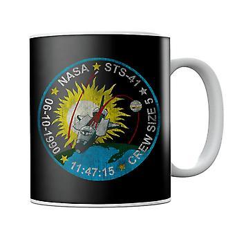 NASA STS 41 Discovery Mission Badge Distressed Mug