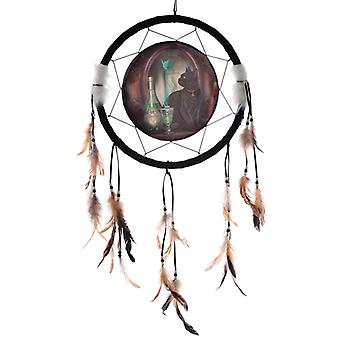 Decorative Lisa Parker Absinthe Cat Dreamcatcher Medium X 1 Pack
