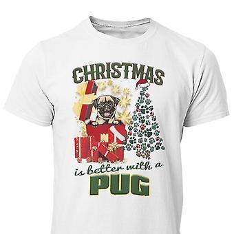 Pug Navidad perro pug camiseta