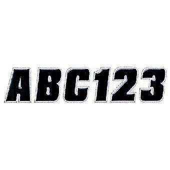 """Hardline BLKSI500 2"""" Letter & Number Kit - Black/Silver"""