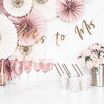 Rose Gold Mirror Miss to Mrs Banner - Hen Party Decoratie