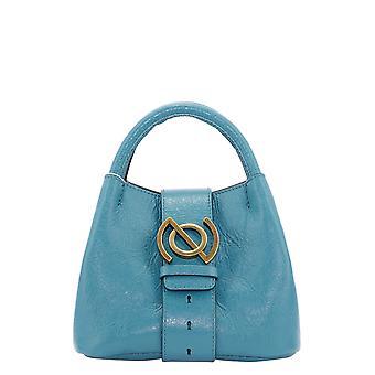 Zanellato 6415jm35 Women's Light Blue Leather Handbag