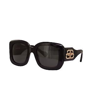 Balenciaga BB0069S 001 Black/Grey Sunglasses