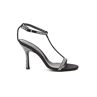 Aamen Ass20116089 Naiset's Musta Nahka sandaalit