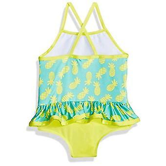 Pink Platinum Toddler Girls' Pinneapple Print One Piece Swimsuit, Yellow, 2T