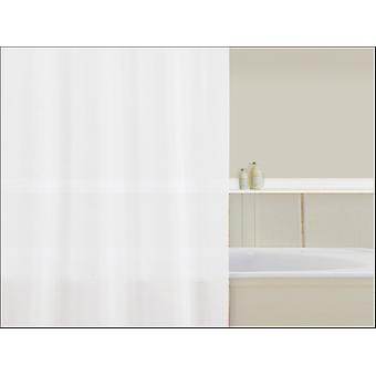 Home Label Polypropylene Shower Curtain Plain White 95003