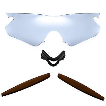 الاستقطاب استبدال العدسات عدة ل Oakley M الإطار سخان الفضة مرآة براون المضادة للخدش المضادة للوهج UV400 SeekOptics