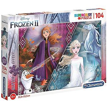 Frozen 2, Puzzle - Glitter Effect - 104 Pieces