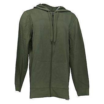 Denim & Co. Women's Active French Terry Hooded Tunic Green A374648