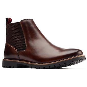 Base London Herre Anderson Læder Pull På Chelsea Boots