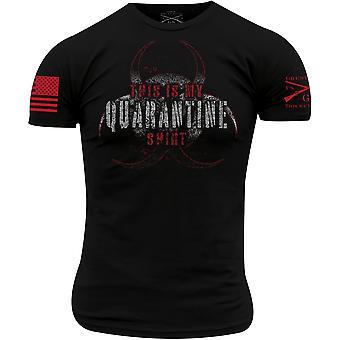 Grunt stil dette er min karantene skjorte t-skjorte - svart