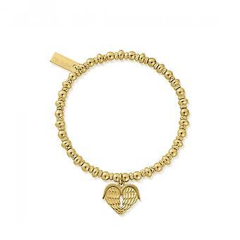 ChloBo Gold Didi Sparkle Heavenly Heart Bracelet GBDS1024