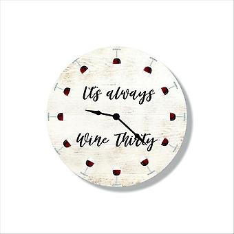 Wine Themed Clock Imagery