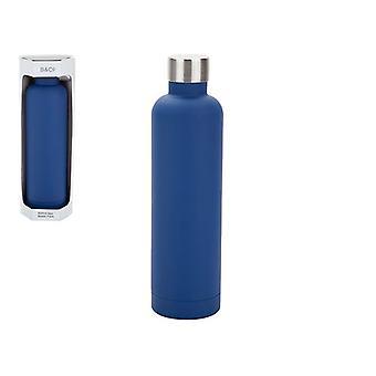 Summit B&Co Geo Bottle Flask Navy Blue