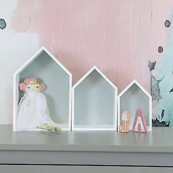 Puckdaddy étagère elise en gris 3 set de décoration étagères dans la maison design de chambre d'enfant étagère