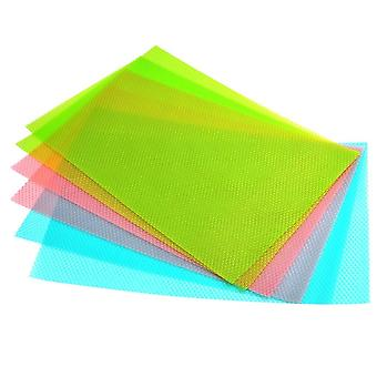 6 Antibacterial Refrigerator Mats - Avoid Moisture And Odors Non-slip Washable And Cut To Size 29 X 45 Cm 3 Colours