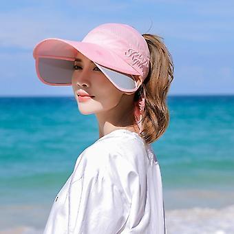 Kesä skaalautuva brim tyhjä top baseball lippis, Uv Protection Beach Sun Visor Hatut