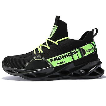 Men Lightweight Running Shoes Shockproof Up Breathable Sneakers