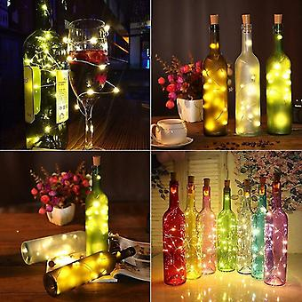 20 Víla String Led Světla - Korková baterie pro party, Vánoce, Halloween a